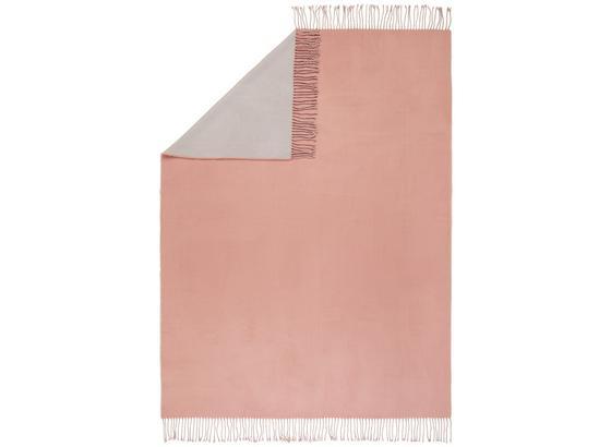 Deka Livia Wende - ružová/svetlosivá, Romantický / Vidiecky, textil (130/170cm) - Mömax modern living