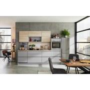 Küchenblock Toronto/Rom B: 275 Steingrau/Eiche - Basics, Holzwerkstoff (275cm) - Vertico