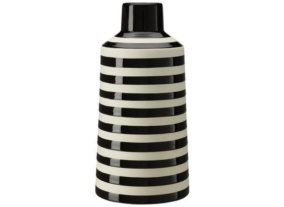 Váza Stripes - čierna/biela, keramika (14,3/28,5cm) - Mömax modern living