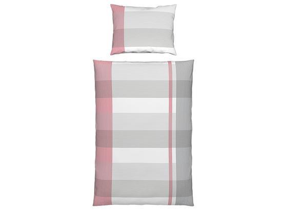 Bettwäsche Daline - Rot, KONVENTIONELL, Textil - Ombra