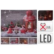 Leuchtbild Loretta - Rot/Braun, KONVENTIONELL, Holz/Textil (40/30cm)
