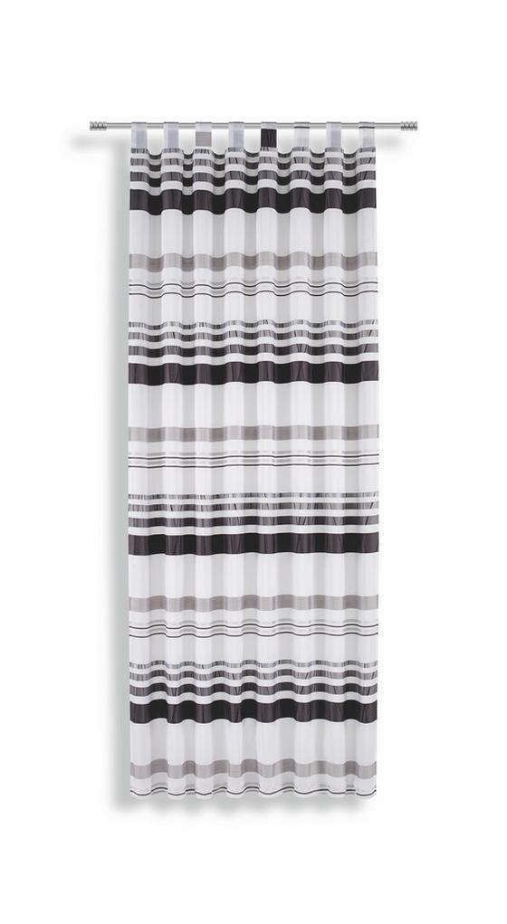 Kombivorhang Felice - Schwarz/Weiß, KONVENTIONELL, Textil (145/245cm) - Luca Bessoni
