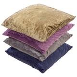 Díszpárna Venezia - homok színű/lila, konvencionális, textil (30/48cm) - Ombra
