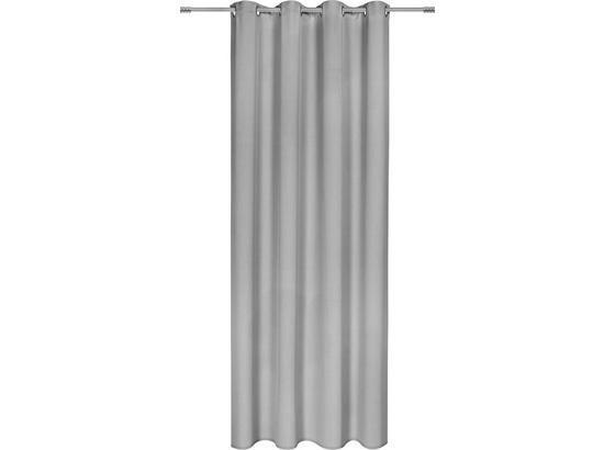 Závěs Hotový Ulli -ext- -eö- - světle šedá, textilie (140/245cm) - Mömax modern living