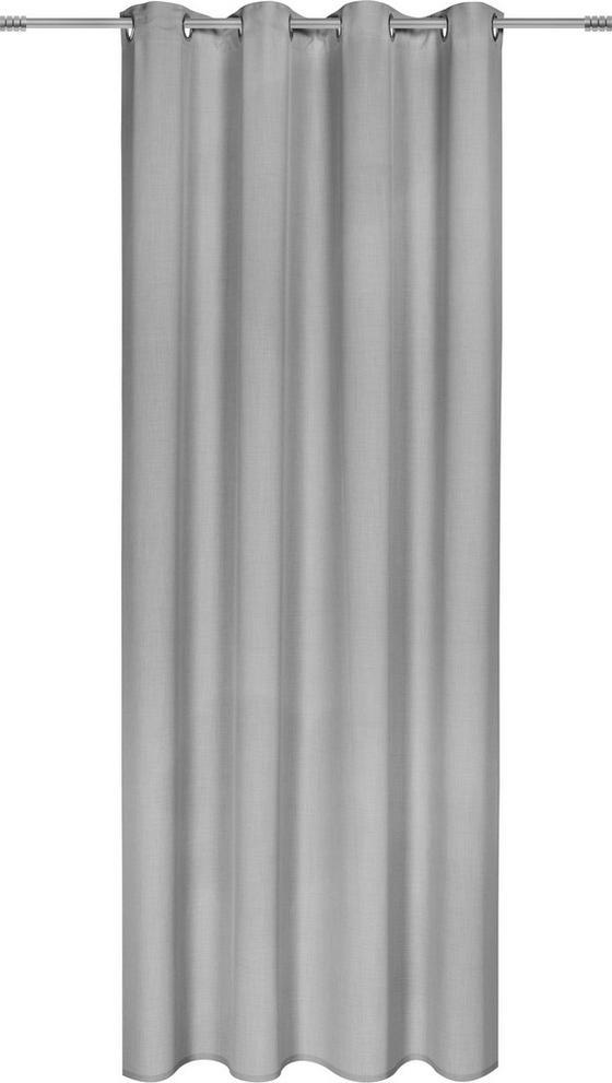 Záves S Krúžkami Ulli -ext- -eö- - svetlosivá, textil (140/245cm) - Mömax modern living