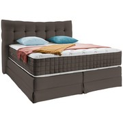 Boxspringbett Domino ca. 160/200cm, Taupe - Taupe, KONVENTIONELL, Holz (160/200cm) - James Wood