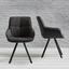 Židle Wanda - černá/tmavě šedá, Moderní, kov/dřevo (57/88/60cm) - Mömax modern living