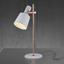 Stolová Lampa Emilia - medená/biela, Moderný, kov (22/16/46cm) - Modern Living