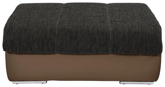 Taburet Multi - hnědá, Moderní, textil (100/43/80cm)