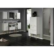 Waschtischunterschrank Oslo B:60cm Weiß - Weiß, Basics, Holzwerkstoff (60/61/35cm)