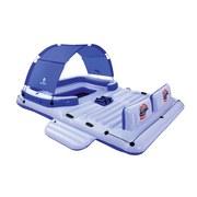 Badeinsel Tropical Breeze mit Kühltasche 389x274cm 43105 - Blau/Weiß, KONVENTIONELL, Kunststoff (389/274cm) - Bestway