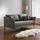 Pohovka Valeria - svetlosivá, Moderný, drevo/textil (192/75/93cm) - Modern Living