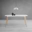 Jedálenský Stôl Anuk - biela/farby buku, Moderný, drevo (160/75/90cm) - Modern Living