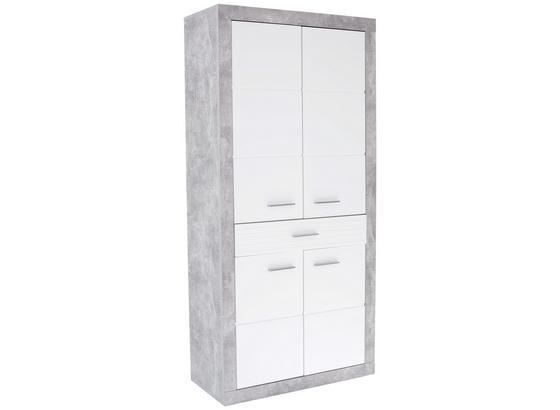 Garderobenschrank Malta - Weiß/Grau, MODERN, Holzwerkstoff (95/196,8/36cm)
