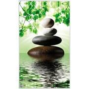 Infrarot Heizung 580 W Stones 60x100 cm, inkl. Thermostat - Weiß/Grau, Trend, Metall (60/100/2cm)