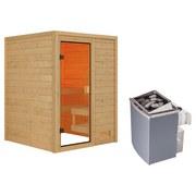 Sauna Tolouse mit interner Steuerung am Ofen - Naturfarben, MODERN, Holz (145/187/145cm) - Karibu