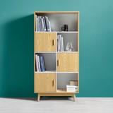 Skříň Aliona - přírodní barvy/barvy jasanu, Moderní, dřevo (80/160/38cm) - MODERN LIVING