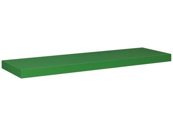 Nástenná Polica Simple 80 - zelená, Moderný, umelá hmota/kompozitné drevo (80/3,8/23,5cm)