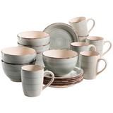 Frühstücksset 18-Tlg Lumaca - Grau, Basics, Keramik
