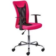 Schreibtischstuhl Donny In Knalligem Pink mit Armlehnen - Chromfarben/Pink, Basics, Kunststoff/Metall (55/85(95)/54,50cm) - MID.YOU