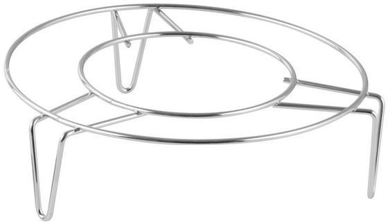 Untersetzerset Fackelmann - Silberfarben, KONVENTIONELL, Metall (15cm)