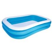 Planschbecken Blue Rectangular Family Pool 262x175x51 cm - Blau/Weiß, KONVENTIONELL, Kunststoff (262/175/51cm) - Bestway