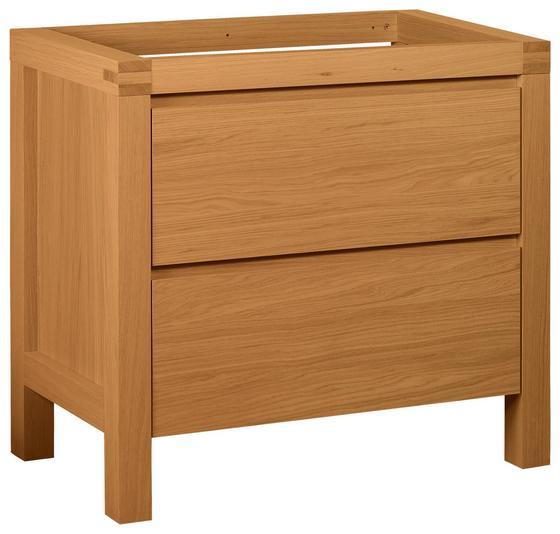 Waschtischunterschrank Erwan 89,6cm Eiche - Eichefarben, KONVENTIONELL, Holzwerkstoff (90/84/50cm)
