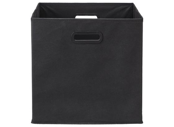 Skládací Krabice Elli -ext- -top- - černá, Moderní, karton/textil (33/33/32cm) - Modern Living