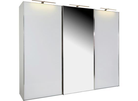 Skříň S Pos. Dveřmi.(hor.ved.) Sonate 336x240cm - bílá, Moderní, dřevo (336/240/68cm) - Luca Bessoni