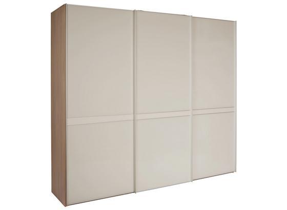 Skříň S Posuvnými Dveřmi Sonate Pesaro - pískové barvy, Konvenční, kompozitní dřevo/sklo (249/222/68cm)