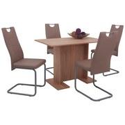 Tischgruppe Kirsten G - Cappuccino/Sonoma Eiche, KONVENTIONELL, Holzwerkstoff/Textil (108/68/75cm)