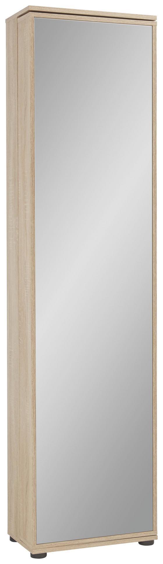 Skrinka Na Topánky Penny 8 - farby dubu/biela, drevený materiál (47/190/29cm)