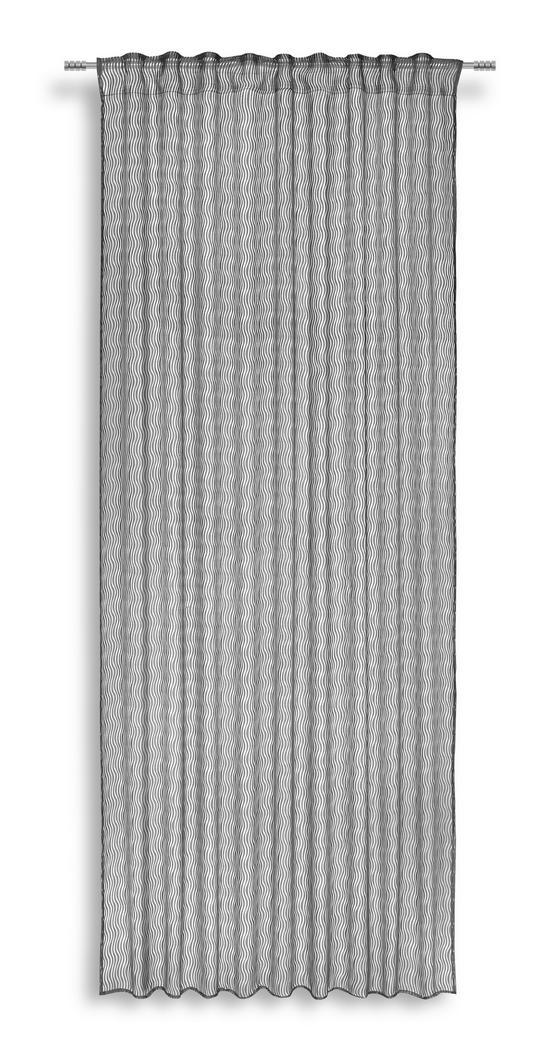 Fertigvorhang Regina - Schwarz, MODERN, Textil (140/245cm) - Luca Bessoni