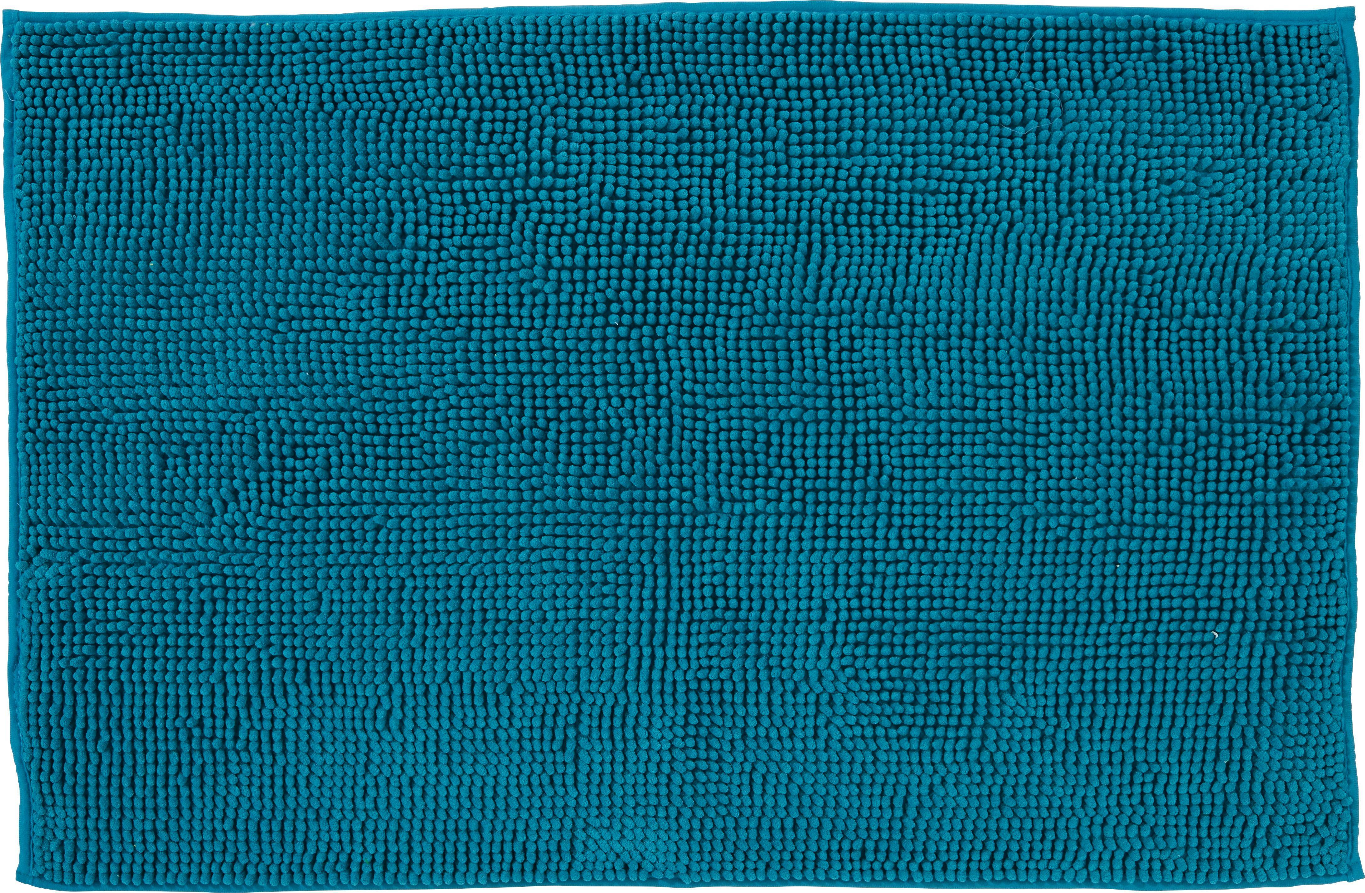 Fürdőszobaszőnyeg Anke - petrol, modern, textil (60/90cm) - LUCA BESSONI