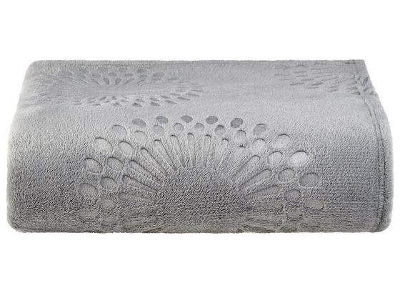 Kuscheldecke Flora - Grau, MODERN, Textil (140/190cm) - Luca Bessoni