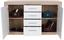 Komoda Sideboard Malta - bílá/barvy dubu, Moderní, dřevěný materiál (138/86/35cm)