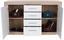 Komoda Sideboard Malta - bílá/barvy dubu, Moderní, kompozitní dřevo (138/86/35cm)