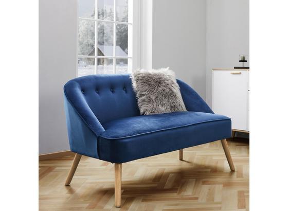 Lavica Sophia - modrá, Moderný, drevo/textil (126,5/77/75cm) - Mömax modern living
