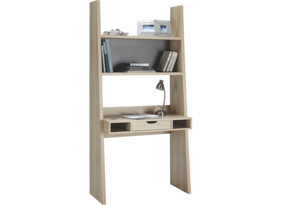 Písací Stôl Pisa San Remo - farby dubu/grafitová, Moderný, kompozitné drevo (90/186/46cm)