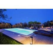 Schwimmbecken-Set Styroporsteinbecken Kwad - Weiß, Basics, Kunststoff (700/350/150cm)