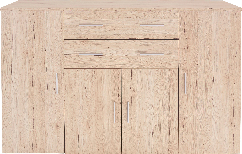 Komód Trio - tölgy színű, modern, faanyagok (152/107/50cm)