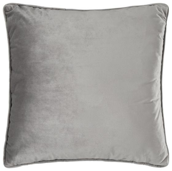 Dekoračný Vankúš Viola - farby striebra, Moderný, textil (45/45cm) - Mömax modern living