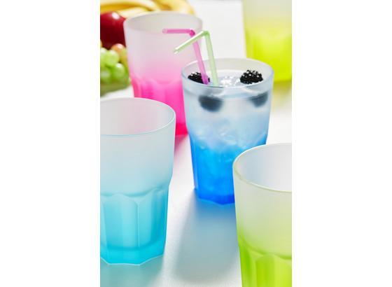 Pohár Sandy - svetlomodrá/pink, Moderný, sklo (0,40l) - Mömax modern living