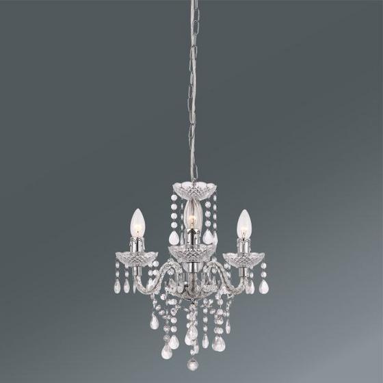 Svítidlo Závěsné Isabella - čiré/barvy chromu, Romantický / Rustikální, kov/umělá hmota (135cm) - Mömax modern living