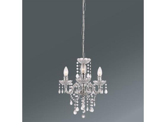 Závesná Lampa Isabella - číra/chrómová, Romantický / Vidiecky, umelá hmota/kov (135cm) - Mömax modern living