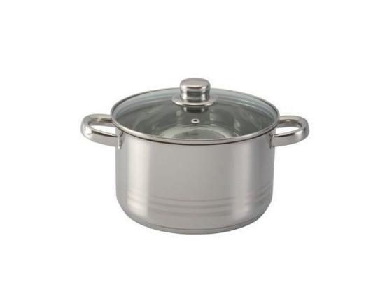 Hrnec 'paula' - čiré/barvy nerez oceli, Konvenční, kov/sklo (16/9,5cm) - Mömax modern living