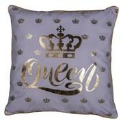 Zierkissen Queen - Goldfarben/Weiß, MODERN, Textil (45/45cm) - Luca Bessoni