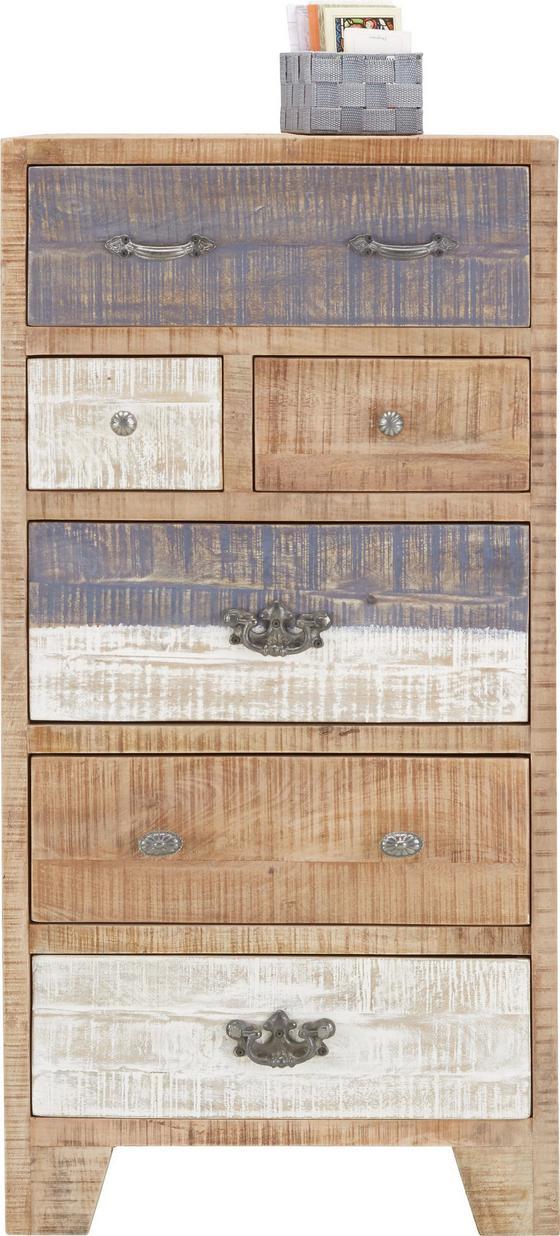 Komoda Highboard Havanna - hnedá/sivá, Štýlový, preglejka/drevo (60/118/45cm) - Zandiara