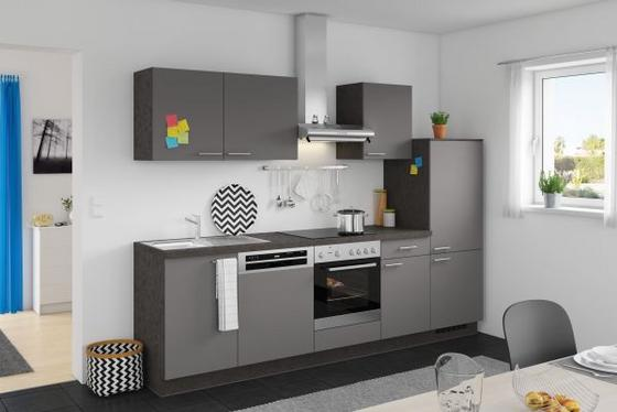 Küchenblock win anthrazit modern holzwerkstoff 280cm express
