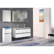 Waschtischkombi mit Soft-Close Arezzo B: 120 cm Weiß - Weiß, Basics, Holzwerkstoff/Stein (120/54/47cm) - Livetastic